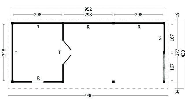Plat dak Oslo type 8 XL 42.7976