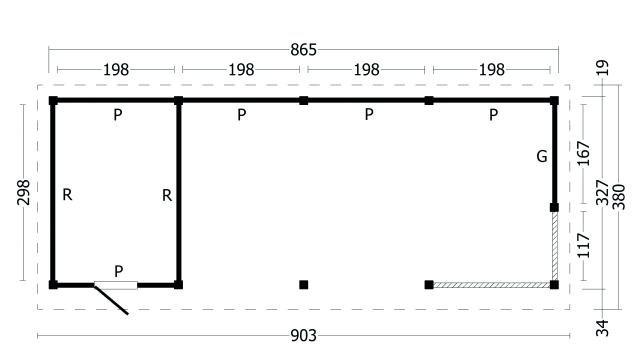 Plat dak Oslo type 10 geplaatst 42.7970