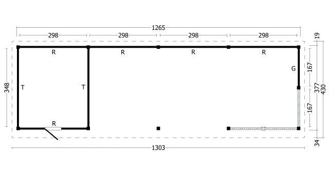 Plat dak Oslo type 10 XL 42.7978