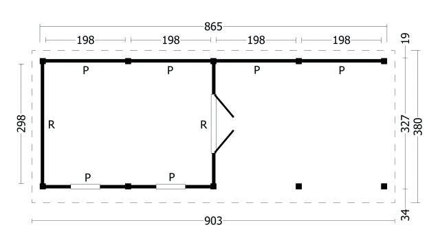 Plat dak Oslo type 11 geplaatst 42.7971
