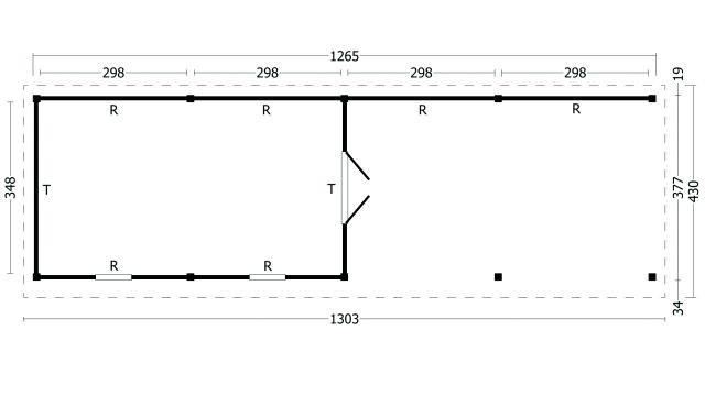 Plat dak Oslo type 11 XL geplaatst 42.7979