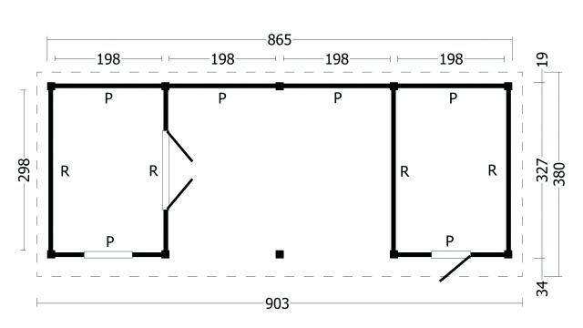 Plat dak Oslo type 12 geplaatst 42.7972