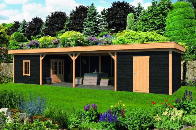 Plat dak Oslo type 12 geplaatst