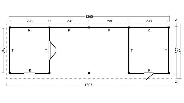 Plat dak Oslo type 12 XL 42.7980