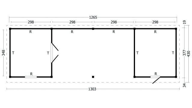 Plat dak Oslo type 12 XL geplaatst 42.7980
