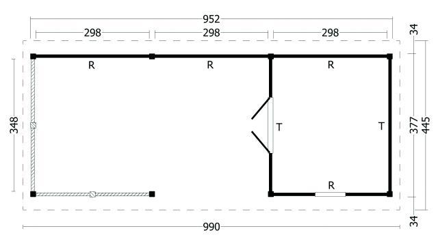 Zadeldak Hamar type 7 XL geplaatst 42.8007
