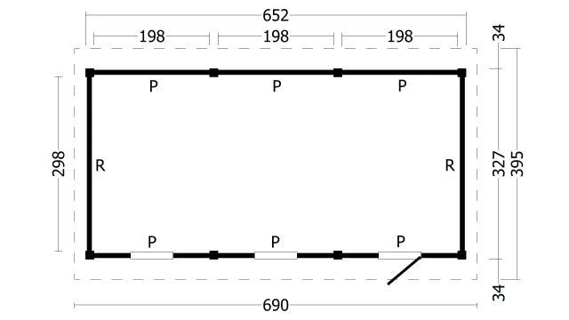 Zadeldak Hamar type 8 geplaatst 42.8000