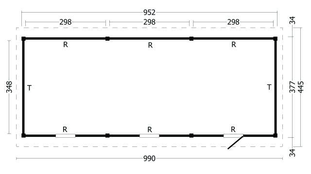 Zadeldak Hamar type 8 XL 42.8008