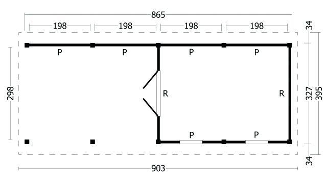 Zadeldak Hamar type 11 geplaatst 42.8003