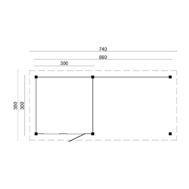 Doe-het-zelf-pakket Leuven plat dak 45.9021V