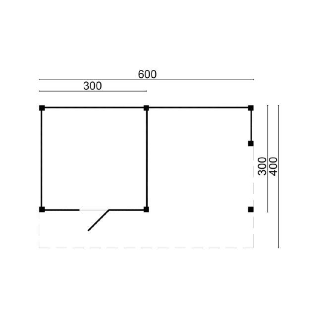 Doe-het-zelf-pakket Kapschuur Markelo 45.9002B