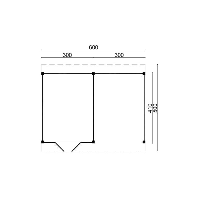 Doe-het-zelf-pakket Raalte plat dak 45.9006B