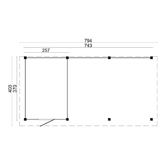 Doe-het-zelf-pakket Twello plat dak 45.9024B