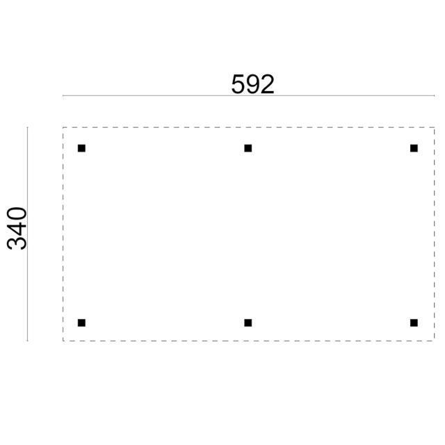 Prieel Modern Excellent Rechthoek - Plat dak 42.5934N
