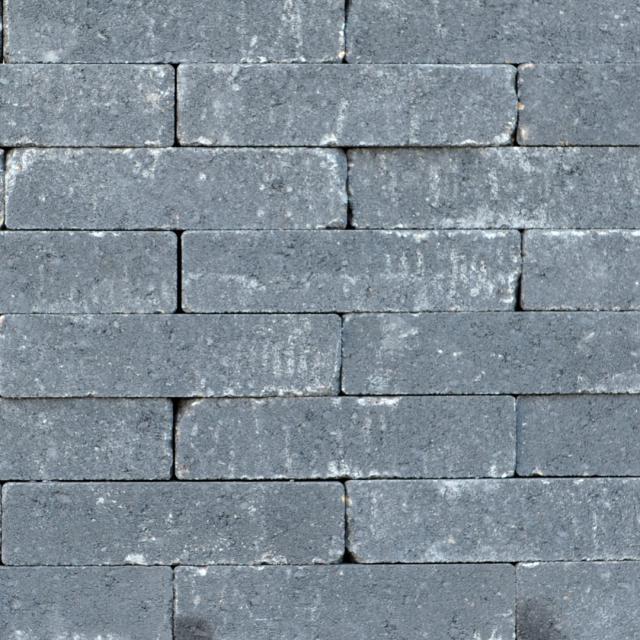 Excluton Abbeystones Getrommeld 20x5x7cm Nero