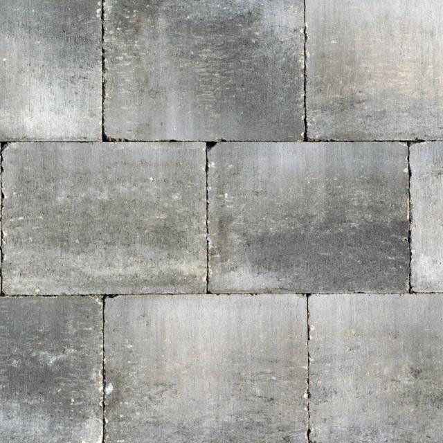 Excluton Abbeystones Getrommeld 20x30x6cm Grijz/Zwart