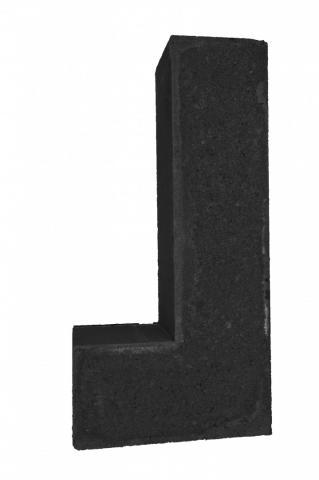 Excluton Linia Excellence hoek 60x30x12cm Nero 7000399