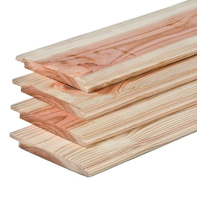 Lariks Douglas Plank Dubbel Lip 275cm