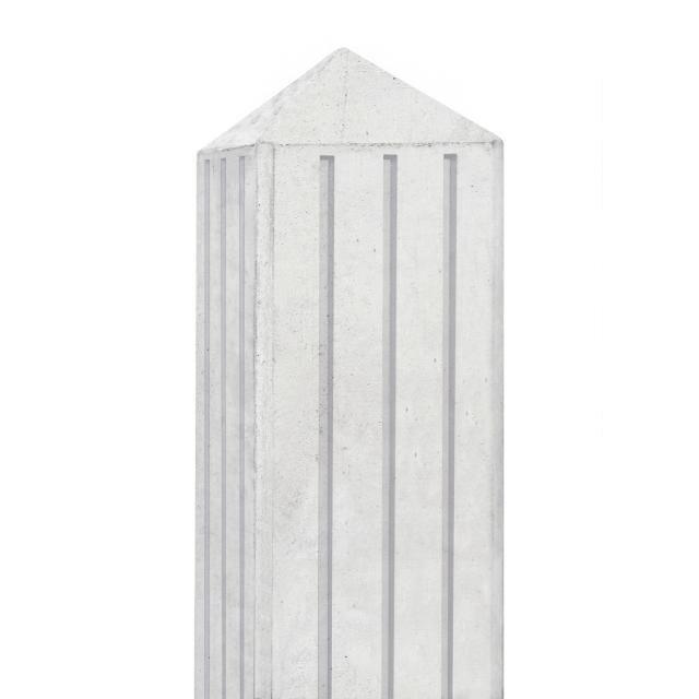Betonpaal RIJN wit/grijs met 3 groeven 10x10x280cm