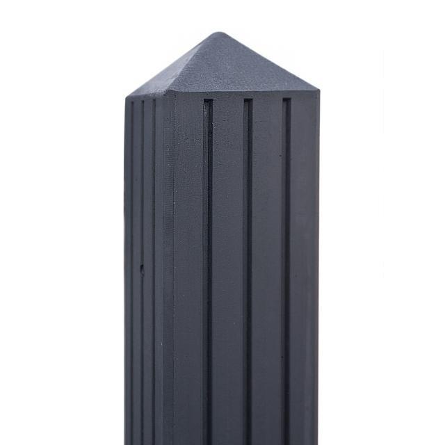 Betonpaal RIJN antraciet met 3 groeven 10x10x280cm