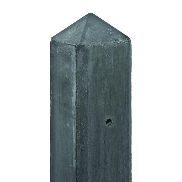 Betonpaal antraciet diamantkop 10x10x180cm eindmodel