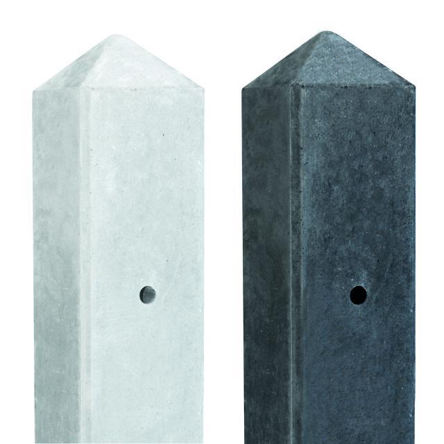 Betonpaal Slimline wit/grijs 7.5x7.5x280cm eindmodel