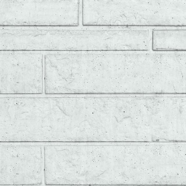 Onderplaat Rotsmotief wit/grijs 20x4.8x184cm
