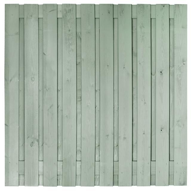 Tuinscherm Brussel grijs gespoten 4 180x180cm