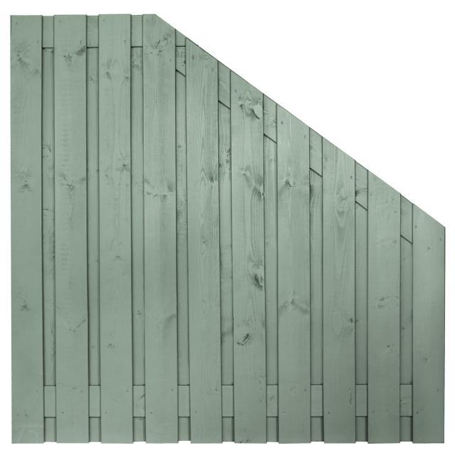 Tuinscherm Brussel grijs gespoten 5 180x180-90cm