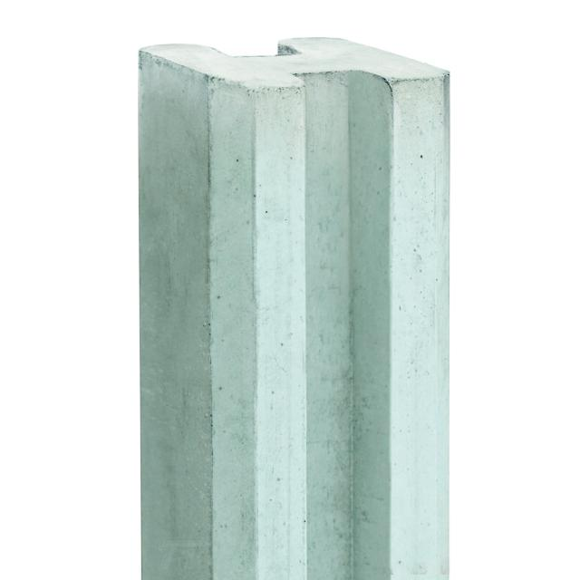 Sleufeindpaal witgrijs 10x10x270cm