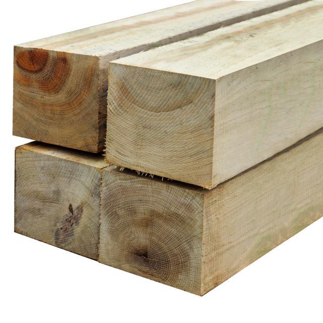 Eikenhouten paal 15x15x300cm