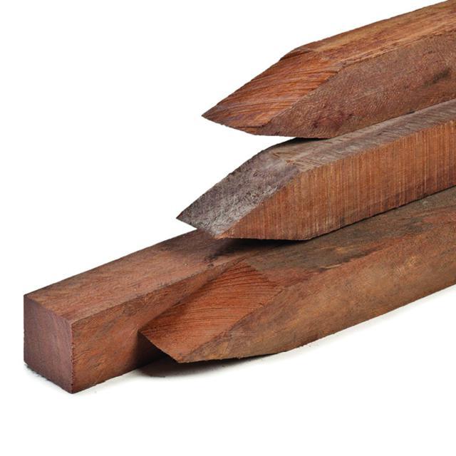 Hardhouten paal Azobe fijnbezaagd 7x7x275cm 1.70275