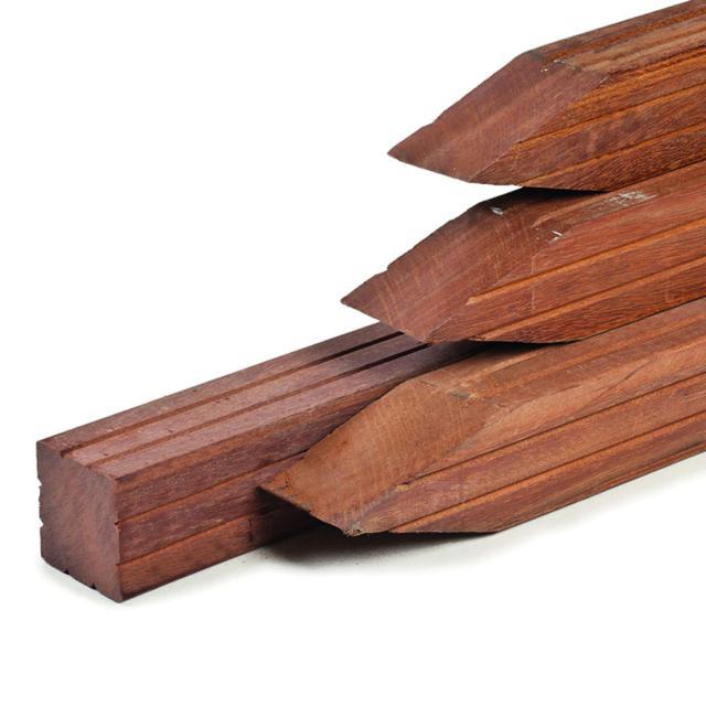 Hardhouten paal Azobe geschaafd 8.5x8.5x275cm 1.69271