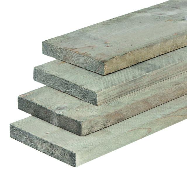 Vuren steigerplank grijs geïmpregneerd 2.9x19x400cm
