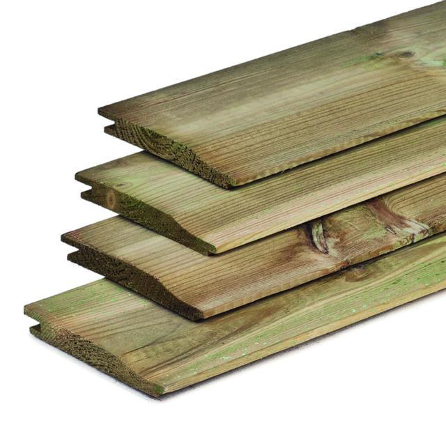 Rabatdelen grenen overhangend 1.6x14x300cm
