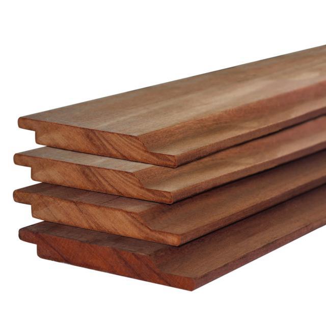 Rabatdelen hardhout halfhouts 1.9x14.5x300cm