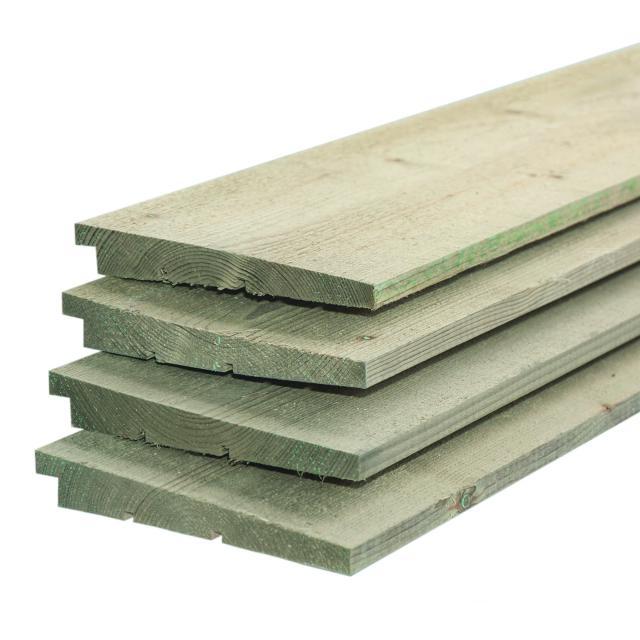 IJsselrabat vuren groen geïmpregneerd 1.1-2.2x19.5x240cm
