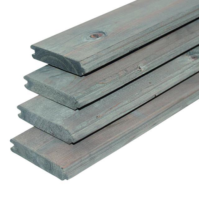 Blokhutprofiel vuren zilvergrijs geïmpregneerd 2.8x12.1x300cm 40.9946OG