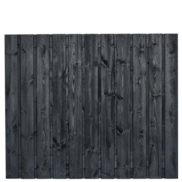 Hout-beton zwart gespoten Stuttgart 150x180 dubbele onderplaat incl. plaatsen