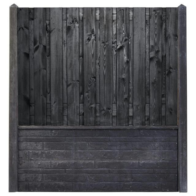 Hout-beton zwart gespoten Stuttgart 130x180 rotsmotief betonsysteem afhalen materialen