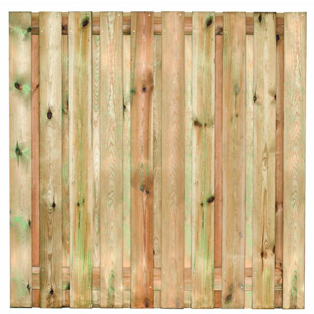 Tuinscherm Enschede met hardhouten palen afhalen materialen
