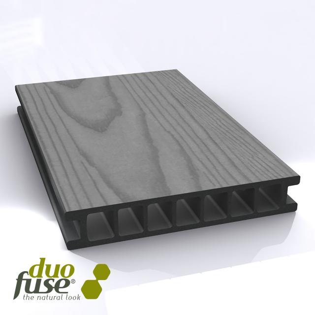Duo fuse stone grey houtnerf incl. leggen