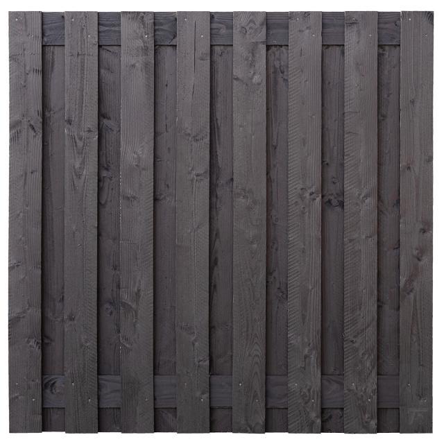 Tuinscherm Sabien zwart gespoten 180x180cm 8.54182