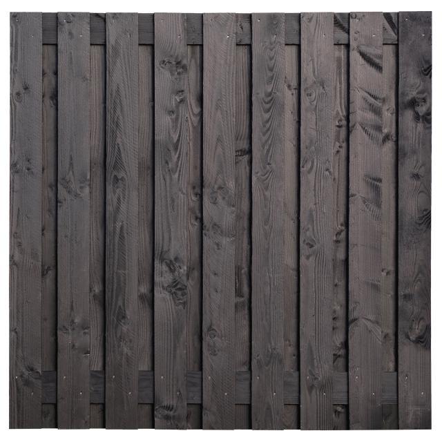 Tuinscherm Karin zwart gespoten 180x180cm