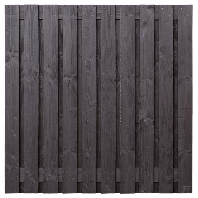 Tuinscherm Marlies  zwart gespoten 180x180cm 8.55180