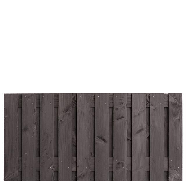 Tuinscherm Marlies zwart gespoten 90x180cm 8.55090