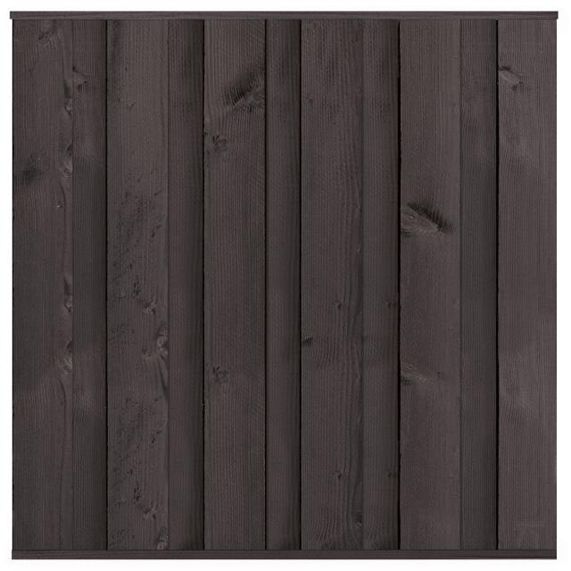 Tuinscherm Rossenheim zwart gespoten 180x180cm 8.54181