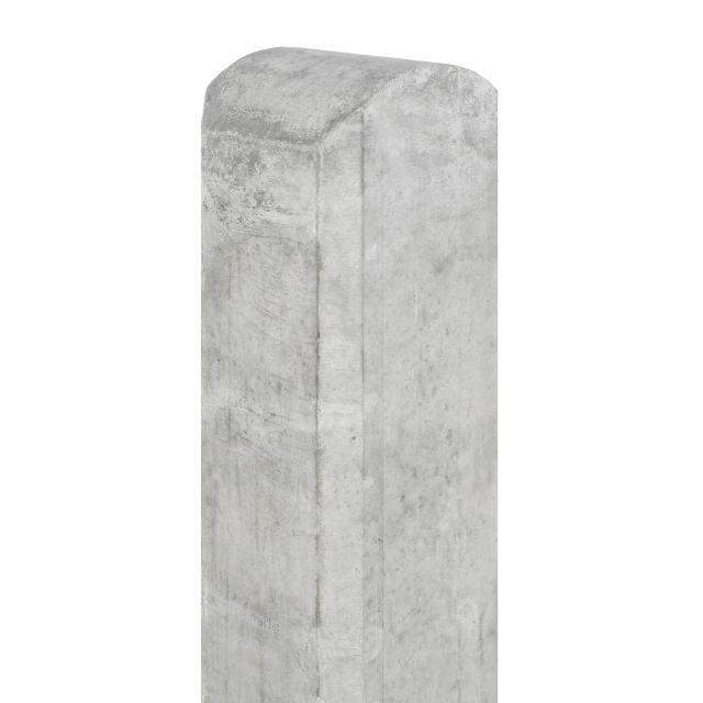 Betonpaal Waal wit/grijs ronde kop 10x10x190cm 1.52180R