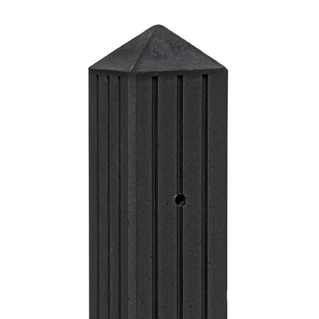 Betonpaal RIJN gecoat met 3 groeven 10x10x280cm