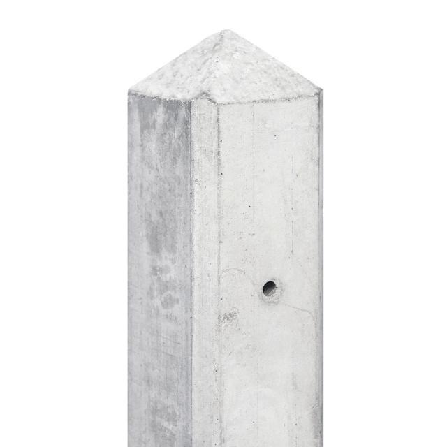 Hoekpaal AMSTEL wit/grijs diamantkop 10x10x280cm 43KG 1.52800H